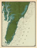 Chesapeake Bay and Virginia's Eastern Shore Chart 1866 Virginia, Chesapeake Bay and Virginia's Eastern Shore Chart 1866 Virginia